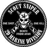 2ND MARINE DIVISION SCOUT SNIPER STICKER